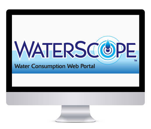 image of Waterscope Water Consumption Web Portal on Apple Monitor
